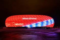 Вижте как е украсена Алианц Арена за празника на Байерн