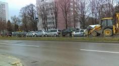 7 коли и багер във верижно ПТП във Варна