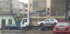 Паяк вдигна патрулка във Варна