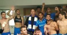 Видео: Джерард Бътлър празнува с отбора на Левски