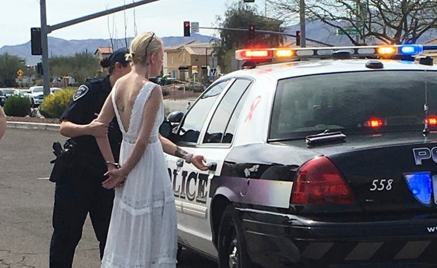 Арестуваха булка на път за сватбата и